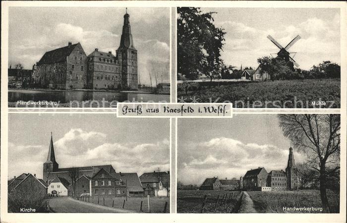 Raesfeld Handwerkerburg Muehle Kirche  Kat. Raesfeld