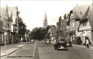 Sulingen Langestrasse Kirchturm Kat. Sulingen