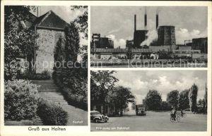 Holten Oberhausen Kastell Ruhrchemie Kreuzung am Bahnhof / Oberhausen /Oberhausen Stadtkreis