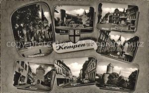 Kempen Niederrhein Peterstrasse Muehlenturm Kuhtor Burg Kempen / Kempen /Viersen LKR