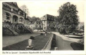 Bad Orb Sanatorium Kueppelmuehle Annenhof Kat. Bad Orb