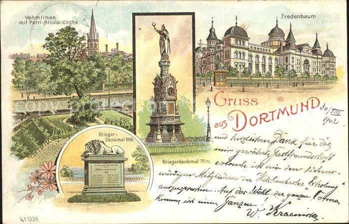 Dortmund Fredenbaum Vehmlinde Kriegerdenkmal  Kat. Dortmund