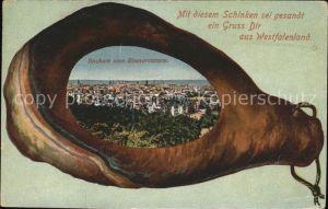 Bochum Panorama vom Bismarckturm Schinken Kat. Bochum