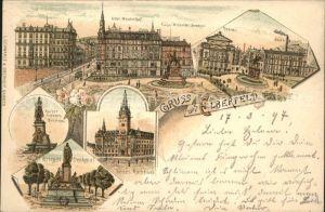 Elberfeld Wuppertal Hotel Weidenhof  Kaiser Wilhelm und Kaiser Friedrich Denkmaeler Kriegerdenkmal Neues Rathaus Stadttheater / Wuppertal /Wuppertal Stadtkreis