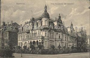 Hannover Villa Hindenburg in der Wedekindstrasse Kat. Hannover