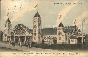 Aachen Festhalle der 59. General Versammlung der Katholiken  Kat. Aachen