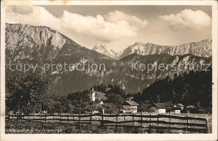 Oberaudorf mit Kaisergebirge Kat. Oberaudorf