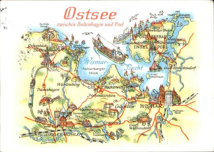 Ostseebad Boltenhagen Karte.Boltenhagen Ostseebad Landkarte Ostsee Zwischen Boltenhagen Und Poel Kat Ostseebad Boltenhagen
