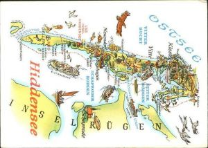 Insel Hiddensee Landkarte Insel Ostseekueste Kat. Insel Hiddensee