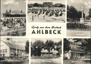 Ahlbeck Ostseebad Seebruecke Strand Konzertplatz Standuhr HO Hotel Ostsee Milchbar Haus der Erholung