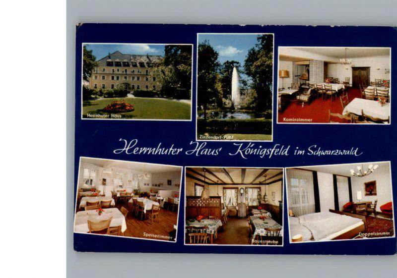 Koenigsfeld Schwarzwald Gasthaus Pension Herrnhuter Haus