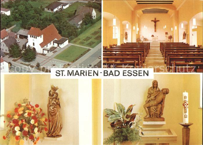 Bad Essen St. Marien Fliegeraufnahme Altar Kat. Bad Essen