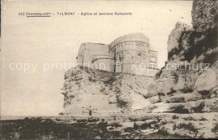 Talmont sur Gironde Eglise et anciens Remparts Kat. Talmont sur Gironde