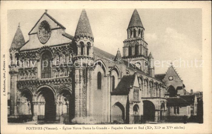Poitiers Vienne Eglise Notre Dame la Grande Facades Kat. Poitiers