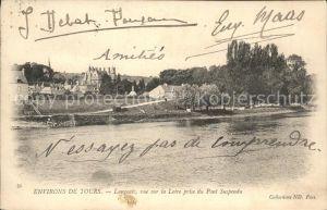 Langeais vue sur la Loire prise du Pont Suspendu Kat. Langeais