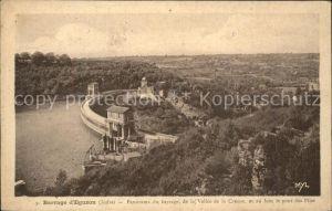 Eguzon Chantome Barrage Vallee de la Creuse Pont des Piles Kat. Eguzon Chantome