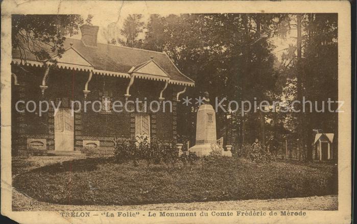 Trelon La Folie Monument du Comte Frederic de Merode Kat. Trelon