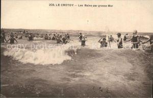Le Crotoy Les Bains par grosse Mer Kat. Le Crotoy