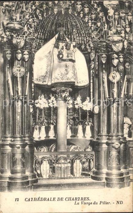 Chartres Eure et Loir Cathedrale La Vierge du Pilier Kat. Chartres