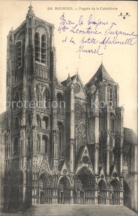 Bourges Facade de la Cathedrale Kat. Bourges