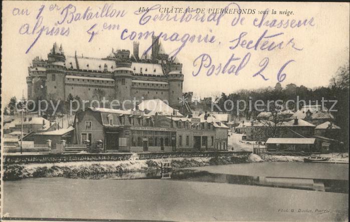 Pierrefonds Oise Chateau sous la neige Kat. Pierrefonds