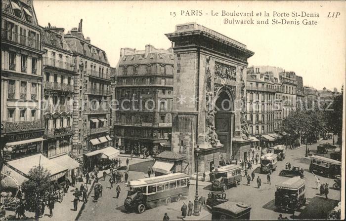 Paris Boulevard et la Porte Saint Denis Kat. Paris