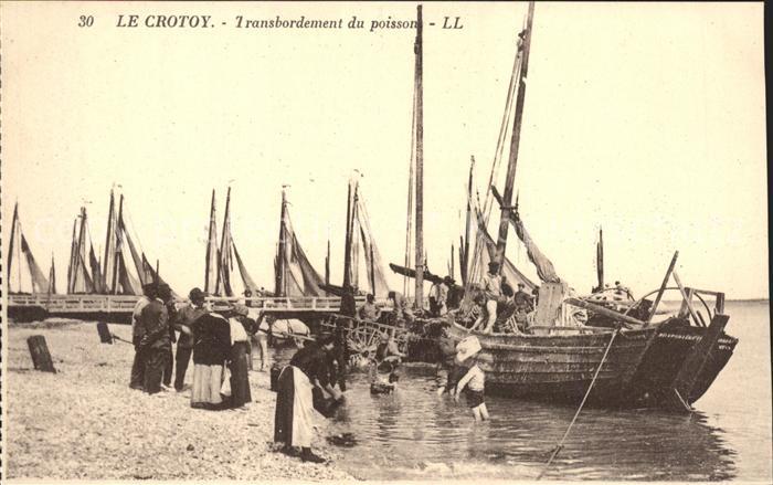 Le Crotoy Transbordement du poissons Bateau de peche Kat. Le Crotoy