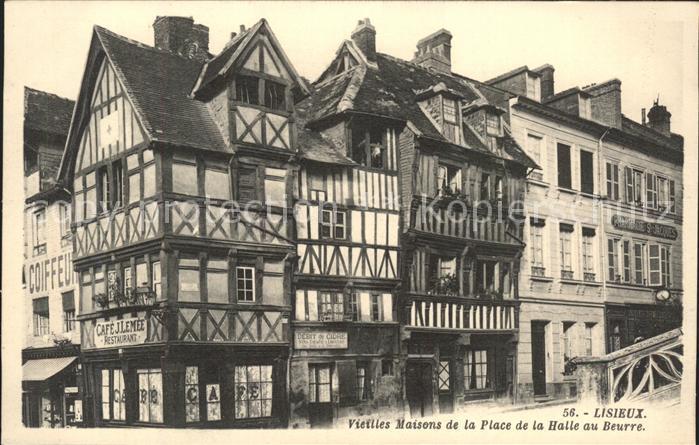 Lisieux Vieilles Maisons de la Place de la Halle au Beurre Kat. Lisieux