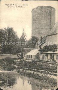 Alluyes Jardin et la Tour du Chateau Kat. Alluyes