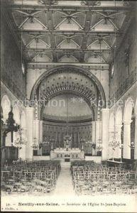 Neuilly sur Seine Interieur de l Eglise Saint Jean Baptiste Kat. Neuilly sur Seine