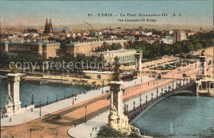 Paris Pont Alexandre III Kat. Paris