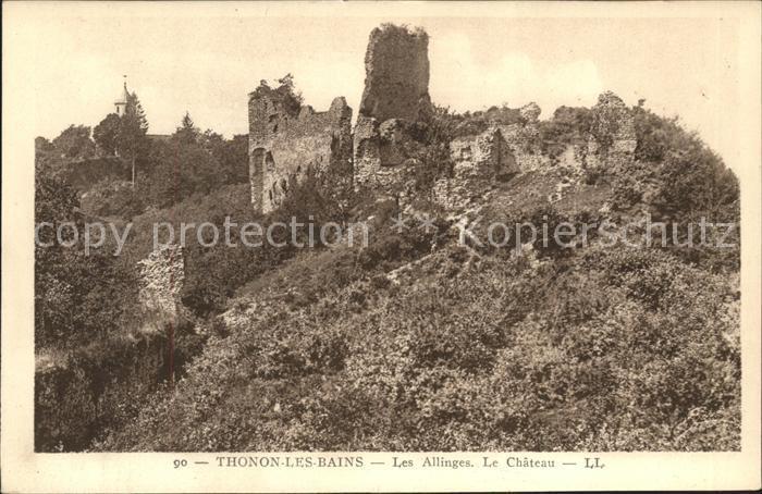 Thonon les Bains Les Allinges le Chateau Ruines Kat. Thonon les Bains
