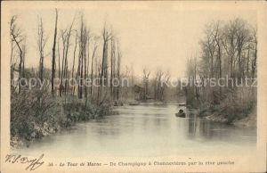 Champigny Marne Le Tour de Marne De Champigny a Chennevieres Kat. Champigny
