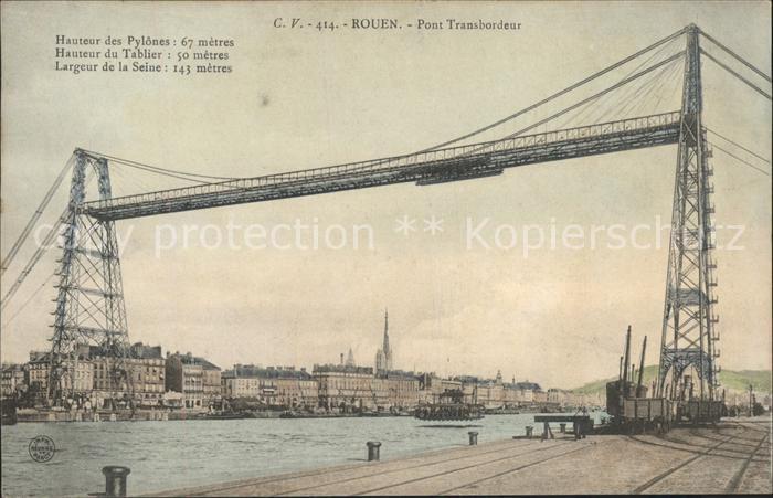 Rouen Pont Transbordeur Kat. Rouen