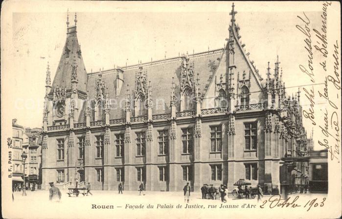 Rouen Facade du Palais de Justice Rue Jeanne d Arc Kat. Rouen