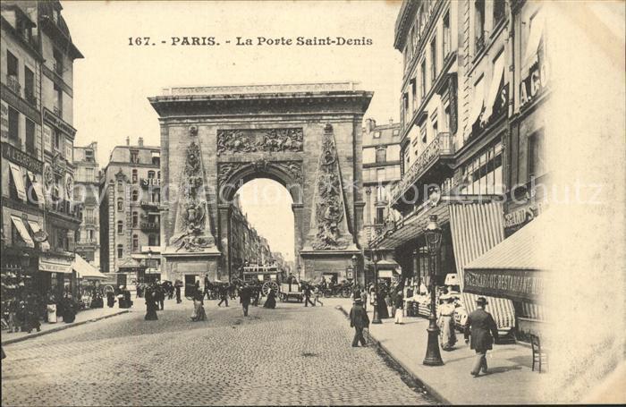 Paris La Porte Saint Denis Kat. Paris