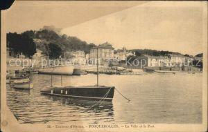 Porquerolles La Ville et le Port Bateau Kat. Hyeres