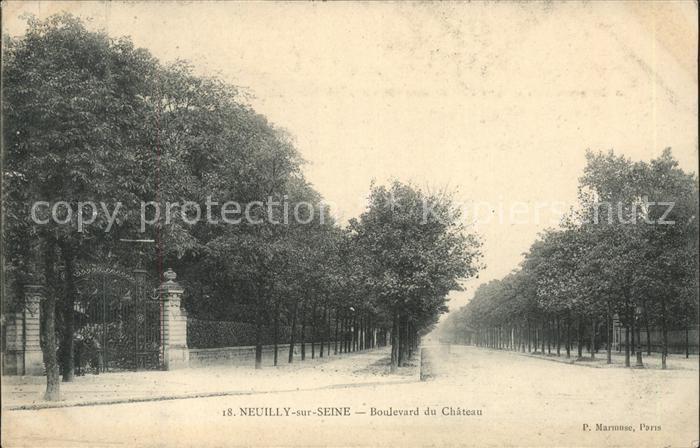 Neuilly sur Seine Boulevard du Chateau Kat. Neuilly sur Seine