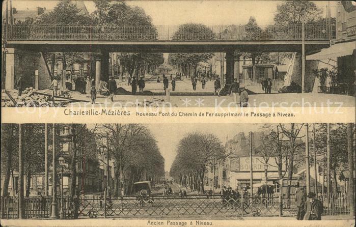 Charleville Mezieres Nouveau Pont du Chemin de Fer Passage a Niveau Kat. Charleville Mezieres