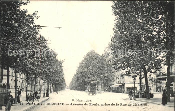 Neuilly sur Seine Avenue du Roule vue prise de la Rue de Chartres Kat. Neuilly sur Seine