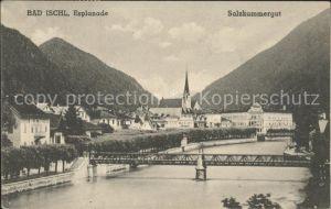 Bad Ischl Salzkammergut Esplanade Traun Bruecke / Bad Ischl /Traunviertel