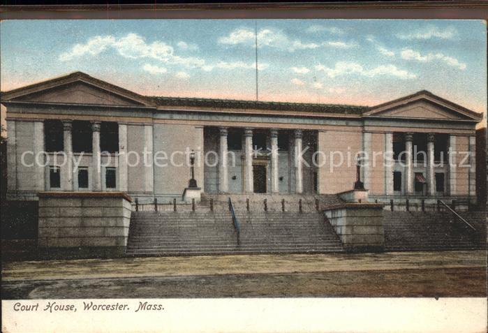 Worcester Massachusetts Court House Kat. Worcester