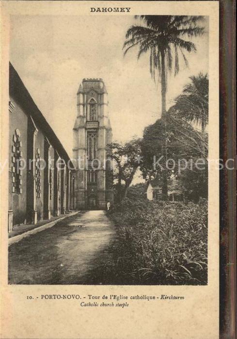 Porto Novo Tour de l`Eglise catholique Kirchturm Kat. Porto Novo