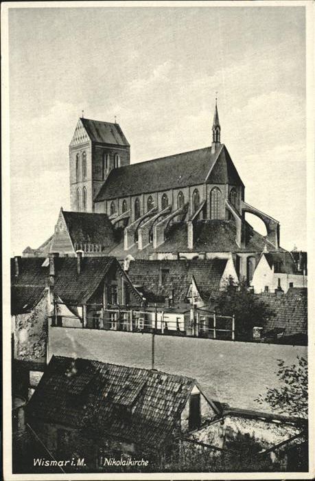 Wismar Mecklenburg Nikolaikirche Kat. Wismar