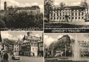 Greiz Thueringen Oberes Schloss Sommerpalais Leninpark Puschkinplatz Oberes Schloss Kat. Greiz
