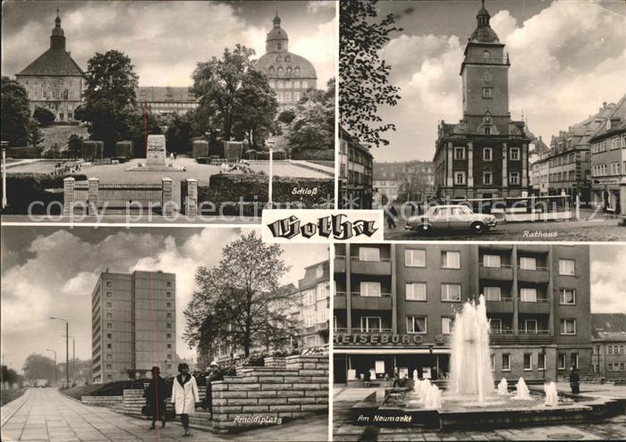 Gotha Thueringen Schloss Rathaus Arnoldiplatz Am Neumarkt Brunnen / Gotha /Gotha LKR