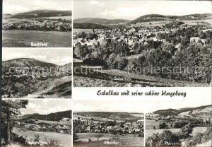 Schalkau Panorama Bachfeld Rauenstein Truckenthal Effelder Theuern Kat. Schalkau