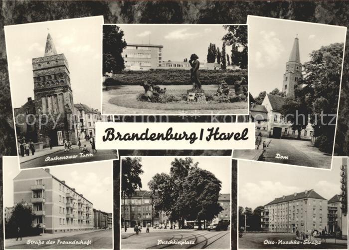 Brandenburg Havel Rathenower Turm Dom SdF Puschkinplatz Otto Nuschkin Str Kat. Brandenburg