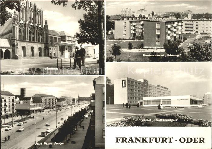 Frankfurt Oder Rathaus Suedringviertel Karl Marx Str Hotel Stadt Frankfurt Kat. Frankfurt Oder
