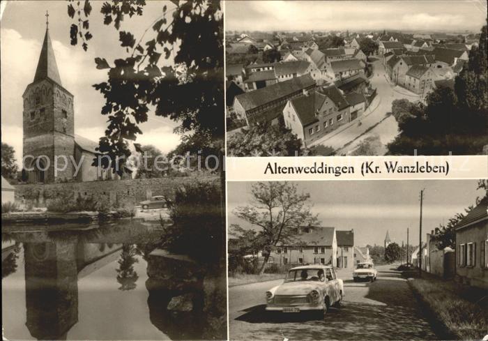 Altenweddingen Kirche Ortsansicht Strassenpartie Kat. Suelzetal